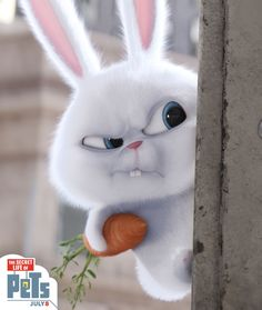 Snowball the rabbit is fluffy white dynamite. | The Secret Life of Pets | In Theaters July 8