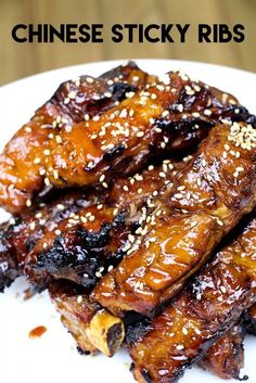 Chinese Style Sticky Ribs Recipe & Video - Asian at Home Rib Recipes, Tofu Recipes, Pork Chop Recipes, Curry Recipes, Asian Recipes, Cooking Recipes, Chinese Recipes, Smoker Recipes, Carne Asada