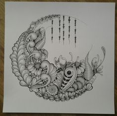 Zentangle zia doodle circle