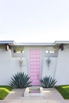 Crushing on that pink door.