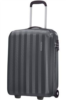 American Tourister AT Prismo II Upright S Strict - graphite Hard Sided Luggage, Trolley Bags, Small Case, Suitcase, American, Graphite, Graffiti, Briefcase