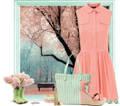 """pastel polka dot contest"" by angkclaxton ❤ liked on Polyvore"