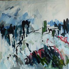 """SOLD """"Winter in Scotland"""" #volbeda #art   100 x 100 cm"""