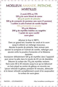 Moelleux amande, pistache, myrtilles, vanille_ fiche
