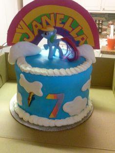 Rainbowdash cake