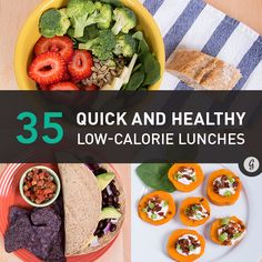 35 Quick and Healthy Low-Calorie Lunches #healthy #recipe #lunch #lowcal