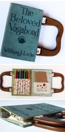 purses out of old books I want one of these!