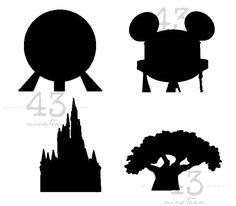 Digital File Download for all four Disney Parks - Magic Kingdom, Animal Kingdom, Hollywood Studios, Epcot - perfect for shirt Disneyland by 43nineteen on Etsy
