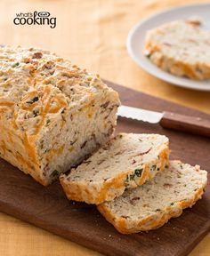 Buttermilk Cheddar-Bacon Bread #recipe