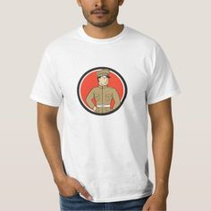Plumber Holding Monkey Wrench Circle Cartoon T Shirt. Illustration of a plumber in overalls and hat standing looking to the side holding monkey wrench viewed from front set inside circle on isolated background done in cartoon style. Worlds Best Dad, Horse T Shirts, Cartoon T Shirts, Tee Shirts, Tees, Cartoon Styles, Funny Tshirts, Retro Fashion, Shirt Style