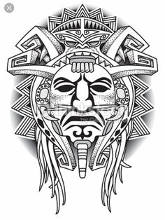 Aztec tattoos in the tribal form are equally popular as their colorful counterparts. Here is information on the meanings associated with some of the most popular Aztec designs. Aztec Tattoo Designs, Polynesian Tattoo Designs, Tattoo Sleeve Designs, Sleeve Tattoos, Aztec Tribal Tattoos, Totem Tattoo, Tatoo Art, Body Art Tattoos, Inka Tattoo
