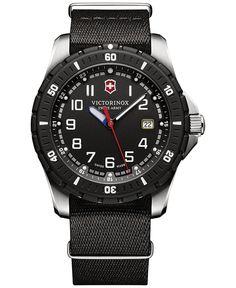 Victorinox Swiss Army Men's Maverick Sport Black Fabric Strap Watch 43mm 241674.1