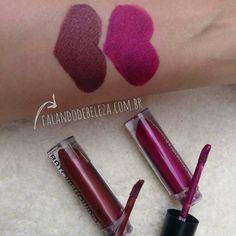 Meus batons novosda Ruby Rose As cores que eu comprei: ➡ 210 (tom de uva) e 37 (marrom meio bronze). Amei a textura, cobertura, duração, o acabamento é matte aveludado, ficam lindos nos lábios e as cores estão lindas!! www.falandodebeleza.com.br  #rubyrosemakeup #rubyrose #batommatte #batom #batons #batommetalizado #metalizado #maquiagem #maquiagens #makeup #pausaparafeminices #mua #make #esmaltes #beleza #beauty #25demarço #moda #trends #tendencia #motd #fashion #lipstick #comprinhas