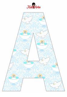 EUGENIA - KATIA ARTES - BLOG DE LETRAS PERSONALIZADAS E ALGUMAS COISINHAS: Alfabeto Batizado menino
