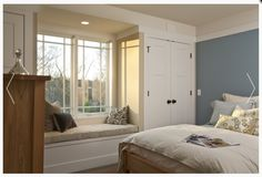 b0c4ae33988 Guest Room - Built in closets and window bench (Sarah Susanka Design)  Bedroom Closets