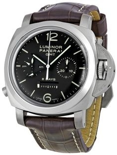71277b19e87c Amazon.com  Panerai Men s PAM00311 Luminor 1950 8 Days Chrono Monopulsante  GMT Titani Chronograph Watch  Panerai  Watches