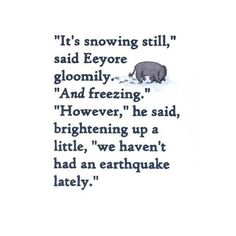 although I love snow & Winter this is a good message of being thankful because things could be a lot worse than just weather you don't like.
