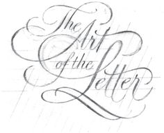 "I got into lettering after I discovered Jessica Hische who is a very talented letterer and illustrator. What really struck me after looking at her work is that you could ""draw"" letters for a living..."
