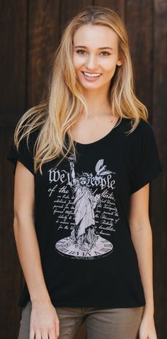 """The Time Is Now"" Women's Black Flowy Raglan 