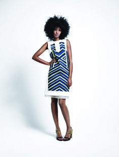 Julia Sarr-Jamois stars in Barneys New York's Spring 2012 Tree Time Campaign shot by Mario Sorrenti and styled by Melanie Ward.