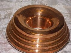 Sale price reduced Vintage copper jello mold jelly by UNIKBOUTIQUE,