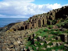 Giants Causeaway, Northern Ireland Formed by the flow of lava from millions of years ago, Giant's Causeaway known for its polygonal sections of basalt layered over each other