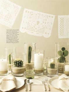 Projects Cactus plants are sturdy in a sandy based hurricane. (Martha Stewart living)Cactus plants are sturdy in a sandy based hurricane. Deco Cactus, Cactus Flower, Cactus Plants, Indoor Cactus, Cactus Decor, Cactus Art, Succulent Table Decor, Flower Diy, Flower Ideas