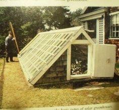 How cool! Semi-underground greenhouse
