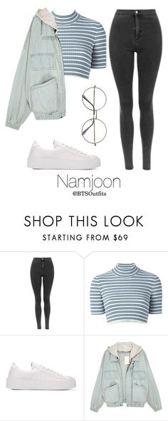 """""""Vintage Shopping with Namjoon"""" by btsoutfits ❤ liked on Polyvore featuring Retrò, Alessandra Rich and vintage"""