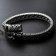 Men's Sterling Silver Ivy Buckle Braided Bracelet - Jewelry1000.com Silver Chain For Men, Mens Silver Jewelry, Silver Man, Sterling Silver Jewelry, Men's Jewelry, Silver Chains, Jewelry Making, Braided Bracelets, Bracelets For Men
