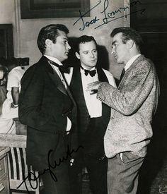 Montgomery Clift visits Jack Lemmon and Tony Curtis on set   montgomeryclift  tonycurtis  jacklemmon