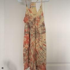 Tie-dye dress I bought this as a beach coverup and never wore it. It's super light and cute. Would be cute for a festival or at the beach. Dresses Midi