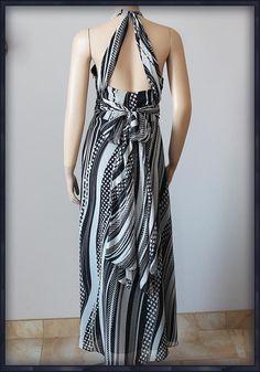 730b6d280a JASPER JEDWABNA Luksusowa Sukienka MAXI SILK 42 XL - 7005068787 - oficjalne  archiwum allegro