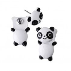 These super cute Panda Front & Back Earrings are amazing! Front Back Earrings, Cute Panda, Cute Earrings, Piggy Bank, Super Cute, Jewellery, Amazing, Bracelets, Accessories