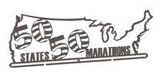 50 States Marathons Medal Hanger