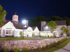 The Alumni Center at night!