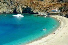 Achla in Andros island, Cyclades Andros Greece, Santorini Greece, Corfu, Villas, Best Beaches In Europe, Places In Greece, Greek Beauty, Exotic Beaches, Greece Islands