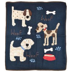 Woof Woof Hand Stitched #Dogs #Baby #Stroller #Blanket in #blue - #Artwalk https://www.babyblankets.com/woof-woof-hand-stitched-dogs-stroller-blanket-artwalk