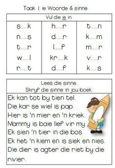 kw2-taak-1-diftonge Grade 1 Lesson Plan, Kindergarten Lesson Plans, Preschool Writing, Preschool Learning Activities, Free Preschool, Free Math, Preschool Worksheets, Teaching Ideas, Quotes Dream