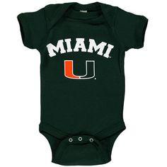Miami Hurricanes Infant Arch & Logo Bodysuit - Green