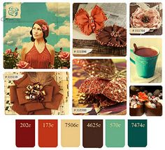 Color schemes are inspired by all that is around us. Here's a nice Fall version.