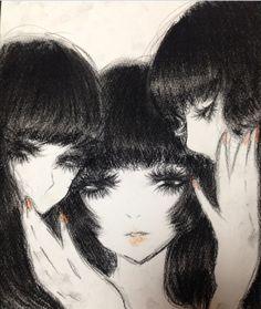 Grunge Art, Epic Art, Drawing Reference Poses, Dark Anime, Renaissance Art, Japanese Artists, Retro Art, Horror Art, Cute Icons