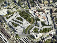 Prerov city, Czech Republic, prize in competition of urban design for revitalization of the territory near the railway station Urban Design, Czech Republic, Paris Skyline, Competition, City, Travel, Viajes, Cities, Trips