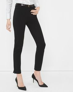Dear StitchFix Stylist, there are bar none my favorite pair of pants I own for the office. The size zero is a perfect fit and they are so flattering and comfortable. Anything that can be paired with these for the office are welcome additions to any fix, espcially things that can be layered for colder months. White House | Black Market Ponte Slim Ankle Pants