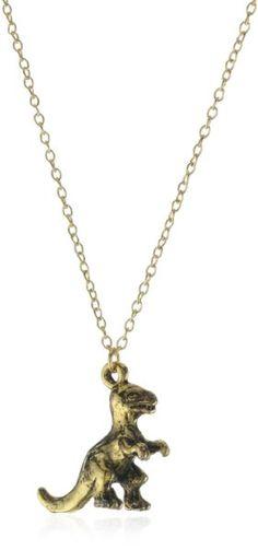 "Privileged NYC Dinosaur Charm Necklace 18"":Amazon:Jewelry"