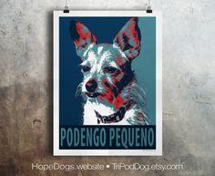 Portugese Podengo Pequeno Dog - Pop Art - Customizable - Political Poster Parody - Digital Download Printable