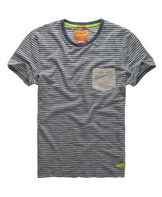 Superdry Grindle Stripe T-shirt - Men's T Shirts