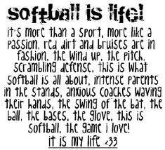 Softball is life(: