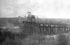 High Level Bridge - just a few minute's walk from UAlberta main campus  April 1912 #vividprint #yeg