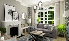 Mały salon 15 m2 w stylu Hampton - Salon, styl eklektyczny - zdjęcie od Grafika i Projekt architektura wnętrz